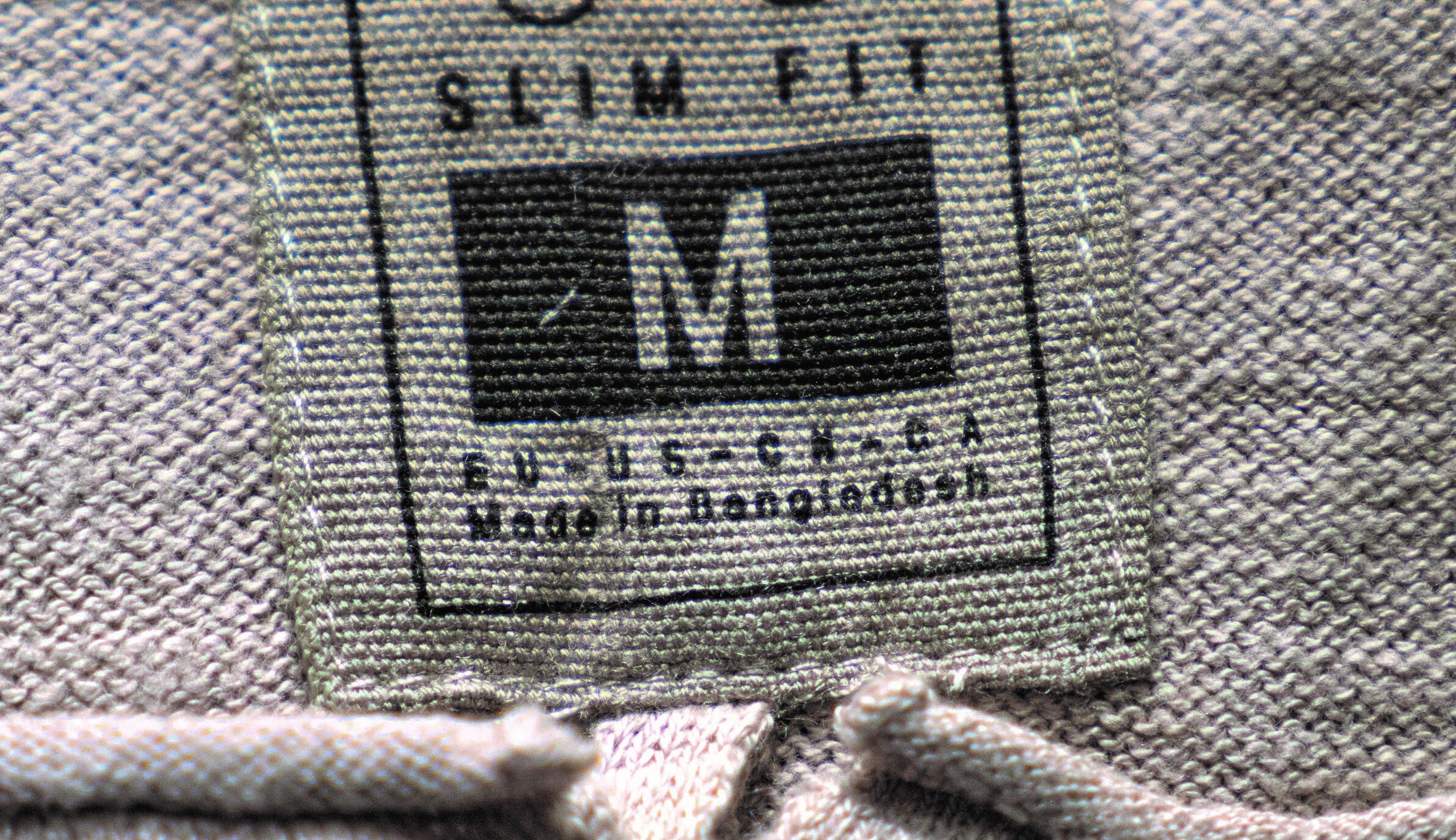 made in Bangladesh label